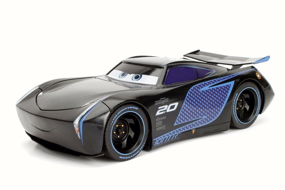 Disney Pixar CARS 3 Jackson Storm, Black w/ Blue - Jada 98361 - 1/24 Scale Diecast Model Toy Car