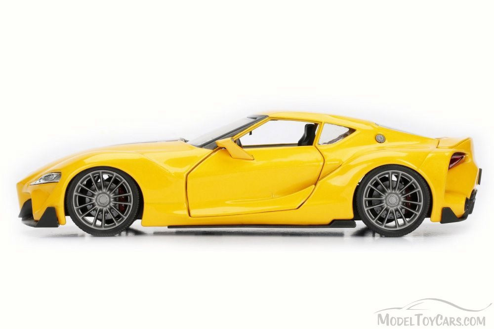 Toyota FT-1 Concept, Yellow - Jada 98554DP1 - 1/24 Scale Diecast Model Toy Car