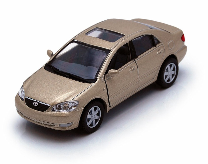 Toyota Corolla, Champagne  - Kinsmart 5099D - 1/36 scale Diecast Model Toy Car
