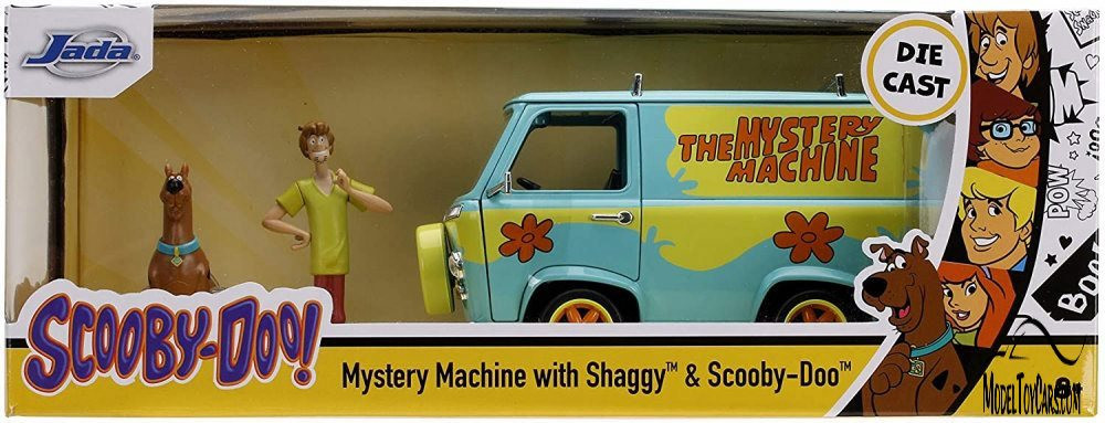 Scooby-Doo Mystery Machine with Shaggy and Scooby Figures, Scooby-Doo! - Jada 31720/4 - 1/24 scale Diecast Model Toy Car