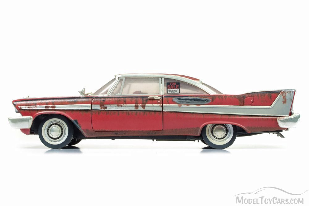 1958 Plymouth Fury, Red w/ Rust - Auto World AWSS119 - 1/18 Scale Diecast Model Toy Car