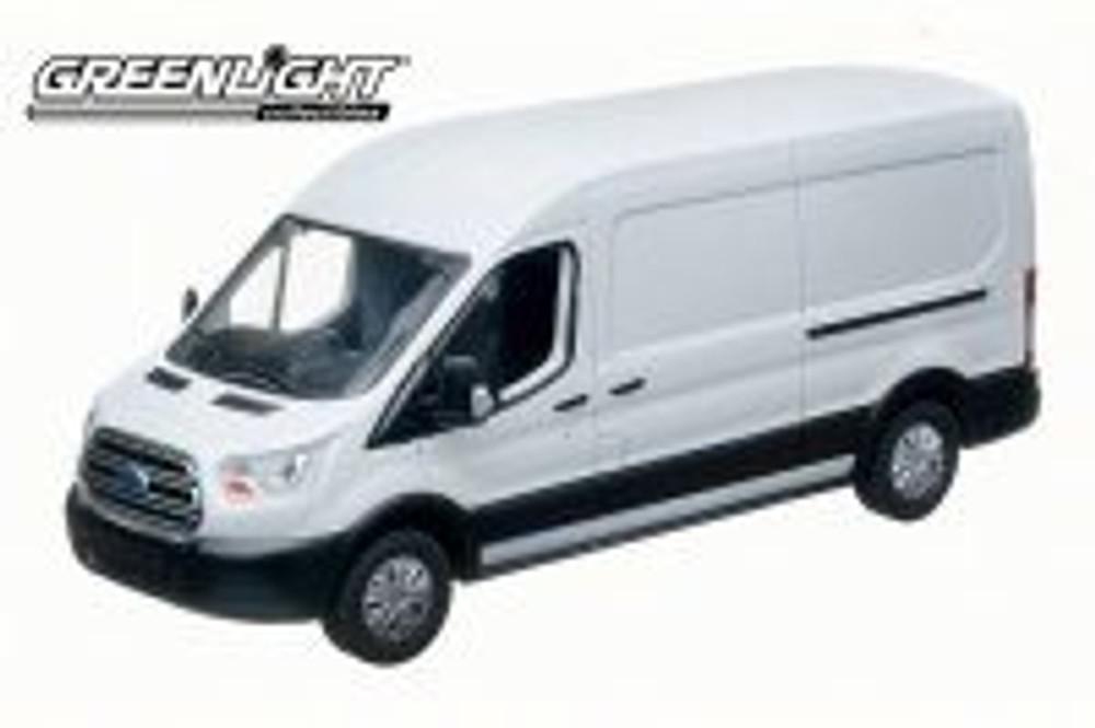 2015 Ford Transit (V363) Cargo Van, White - Greenlight 86039 - 1/43 Scale Diecast Model Toy Car
