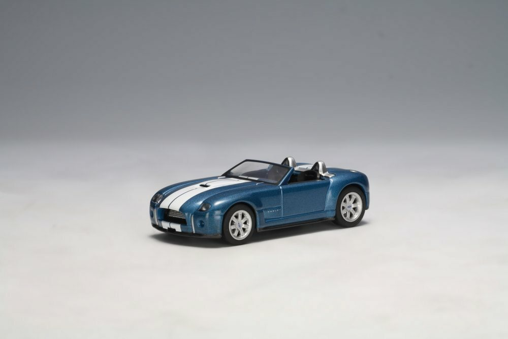 2004 Ford Shelby Cobra Concept Car, Guardsman Blue - Auto Art 20543 - 1/64 Scale Diecast Model Toy Car