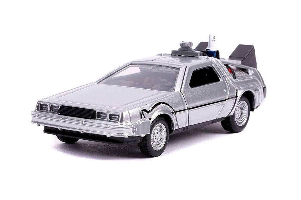 DeLorean DMC Time Machine, Back to the Future Part II - Jada 30541 - 1/32 scale Diecast Model Toy Car