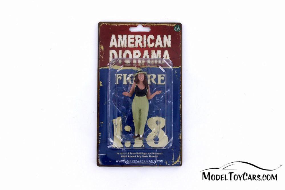 Tanya Figure, Green with Black - American Diorama 38188 - 1/18 Scale Figurine - Diorama Accessory