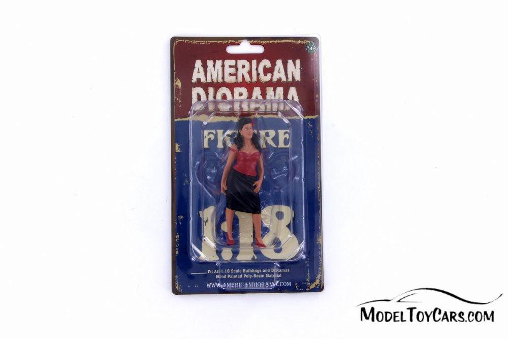 Rosa Figure, Black with Red - American Diorama 38184 - 1/18 Scale Figurine - Diorama Accessory