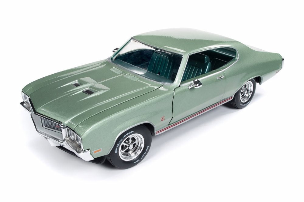 1970 Buick GS 455 Hard Top, Green - Auto World AMM1149 - 1/18 scale Diecast Model Toy Car