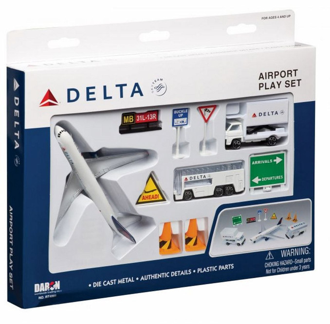 Delta Airlines Playset, White - Daron RT4991 - Diecast Model Toy Car