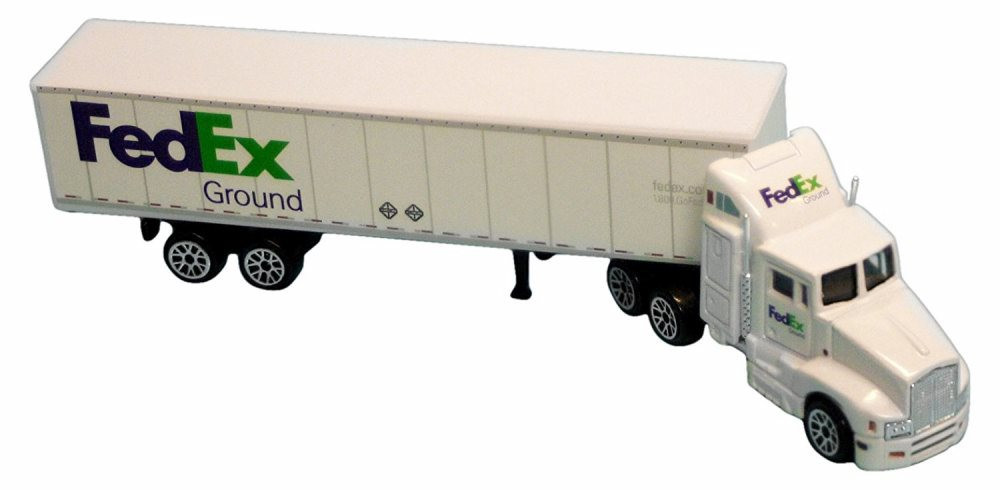 FedEx Ground Tractor Trailer, White - Real Toy RT1037 - 1/87 Scale Model Airplane
