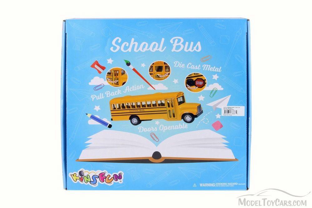 New York School Bus, Yellow - Kinsmart 6501DNY - Diecast Model Toy Car