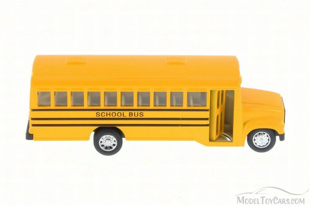 School Bus, Yellow - Kinsmart 6501D - Diecast Model Toy Car