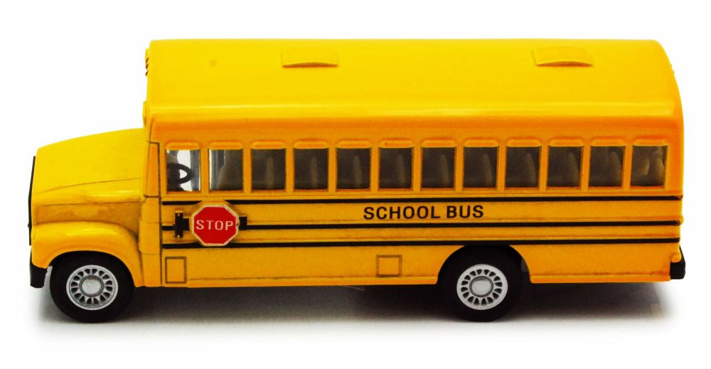 School Bus, Yellow - Kinsmart 5107D - 5