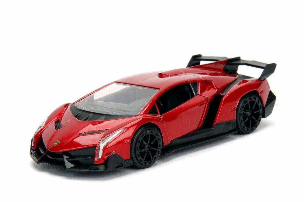 2017 Lamborghini Veneno Hard Top, Red - Jada 30101WA1 - 1/32 Scale Diecast Model Toy Car
