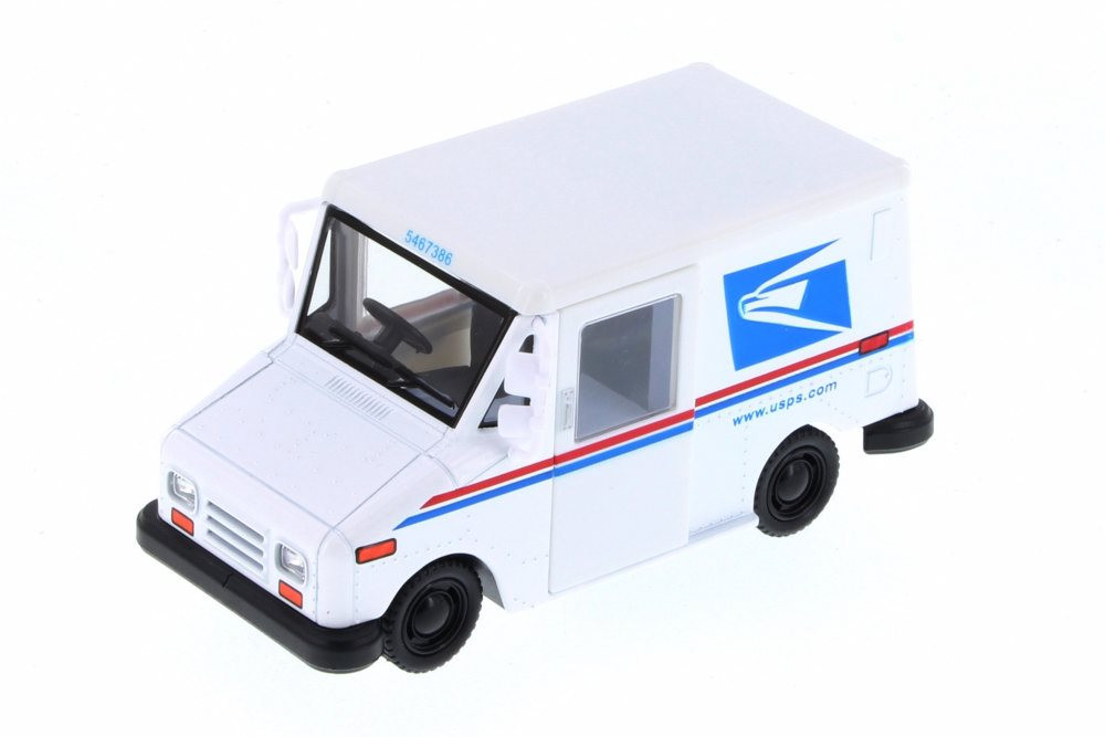Long Live Postal Mail Delivery Vehicle, United States Postal Service (USPS) - Kinsmart 5112D - 1/34 Scale Diecast Model Toy Car