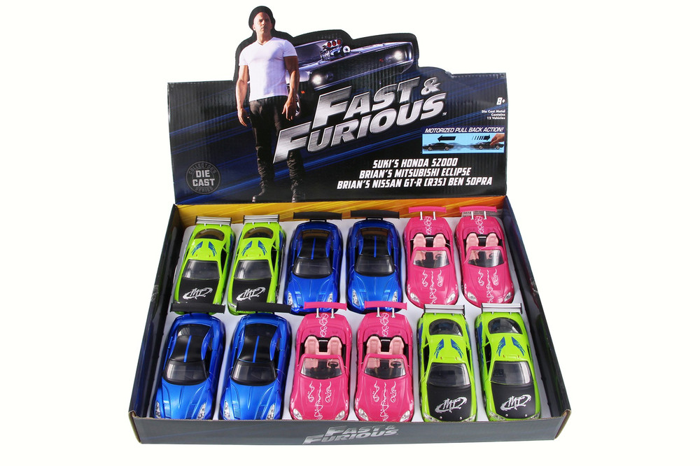 Jada Toys Fast & Furious - F8 Assortment 'The Fate of the Furious' Movie Diecast Car Package - Box of 12 assorted 1/32 Scale Diecast Model Cars