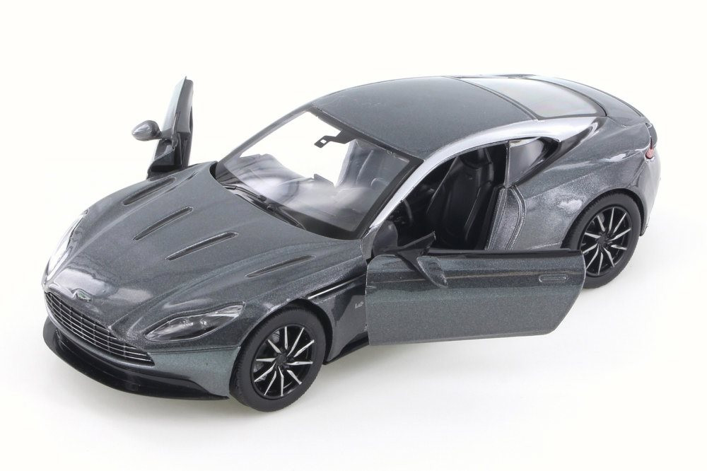 Aston Martin DB11, Metallic Gray - Motor Max 79345/16D - 1/24 Scale Diecast Model Toy Car