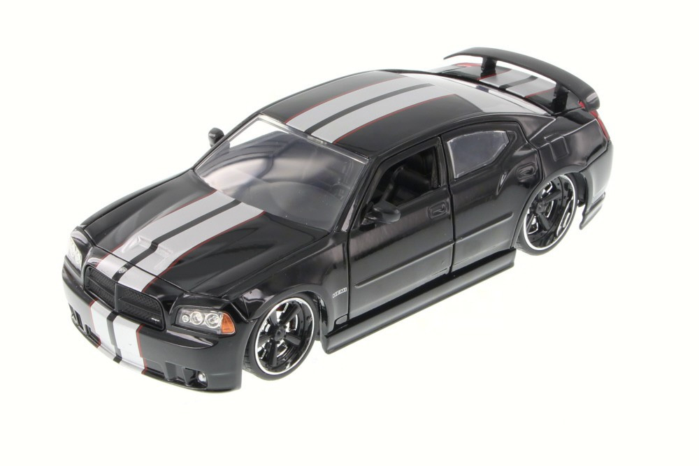 2006 Dodge Charger SRT8, Black - JADA 90798YV - 1/24 Scale Diecast Model Toy Car (Brand New, but NOT IN BOX)