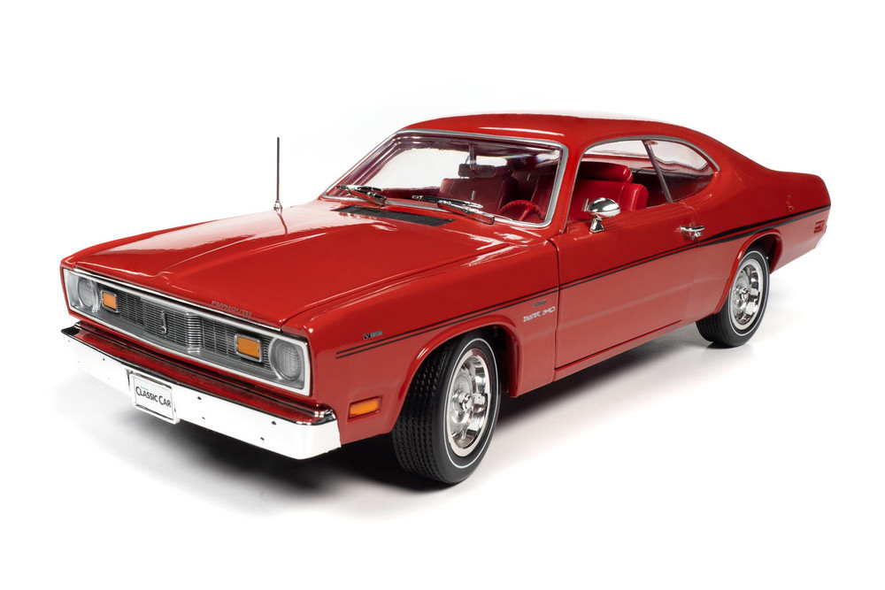 1970 Plymouth Duster 340 Hardtop, Rally Red - Auto World AMM1205 - 1/18 scale Diecast Model Toy Car