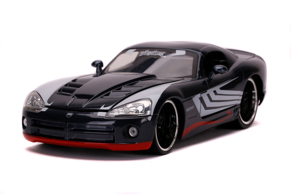 2008 Dodge Viper with Venom Figure, Spider-Man - Jada Toys 31750/4 - 1/24 scale Diecast Model Toy Car
