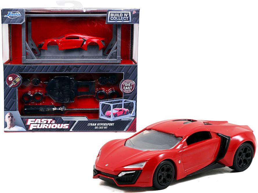 Lykan Hypersport Build N' Collect Die-cast Model Kit, Fast &Furious - Jada Toys 31289 - 1/55 scale Diecast Model Toy Car