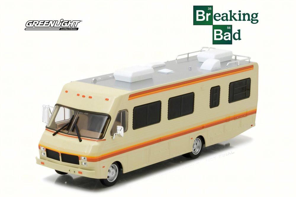 1986 Fleetwood Bounder RV, Beige - Greenlight 86500 - 1/43 Scale Diecast Model Toy Car