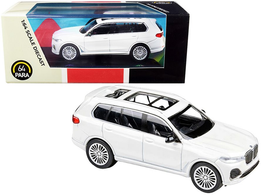 2018 BMW X7 LHD, White - Paragon PA55192W - 1/64 scale Diecast Model Toy Car