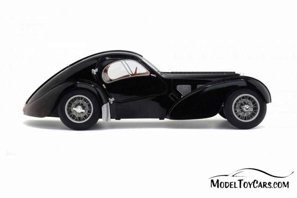 1937 Bugatti Type 57 SC Atlantic Hardtop, Black - Solido S1802101 - 1/18 scale Diecast Model Toy Car