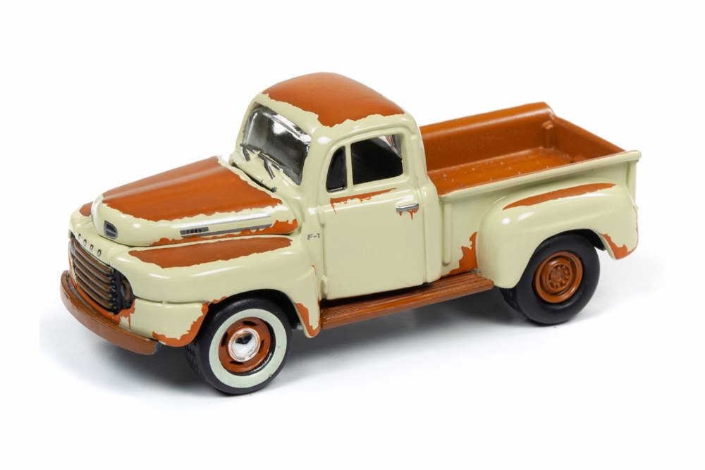 1950 Ford F-1, Tuscon Tan with Rust - Johnny Lightning JLSF015/48B - 1/64 scale Diecast Model Toy Car