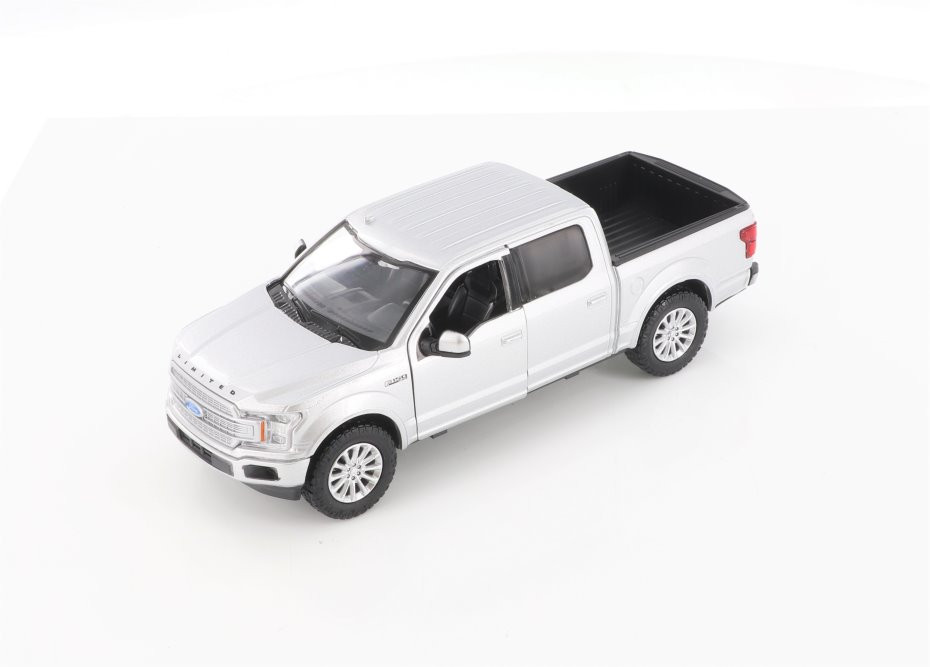 MotorMax 2019 Ford F-150 Limited Crew Cab Pickup Diecast Car Set - Box of 4 1/24 Scale Diecast Model Cars, Assorted Colors