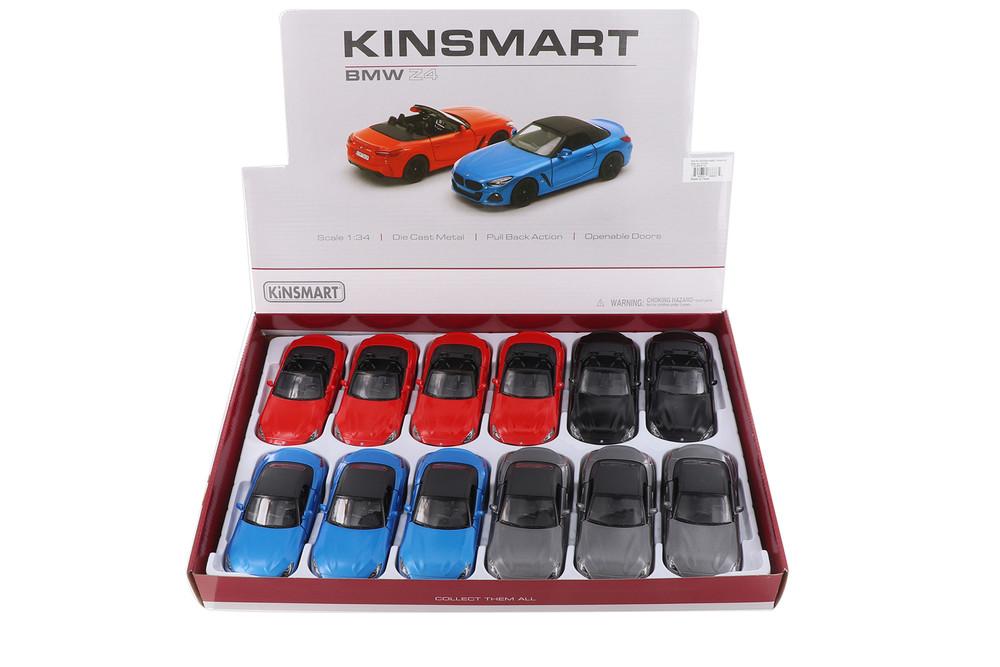 Kinsmart BMW Z4 Diecast Car Set - Box of 12 5-inch Diecast Model Cars, Assorted Colors