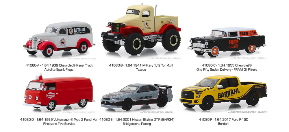 Greenlight Running on Empty Series 8 Diecast Car Set - Box of 6 assorted 1/64 Scale Diecast Model Cars