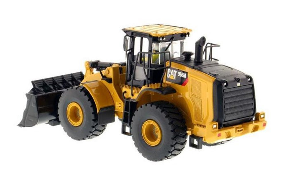 Caterpillar 966M Wheel Loader with Operator, Yellow - Diecast Masters 85928 - 1/50 scale Diecast Vehicle Replica