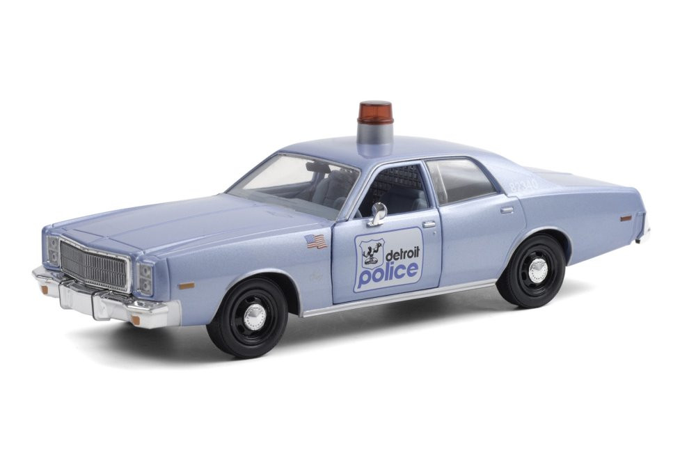 Detroit Police 1977 Plymouth Fury, Beverly Hills Cop - Greenlight 84122 - 1/24 scale Diecast Model Toy Car
