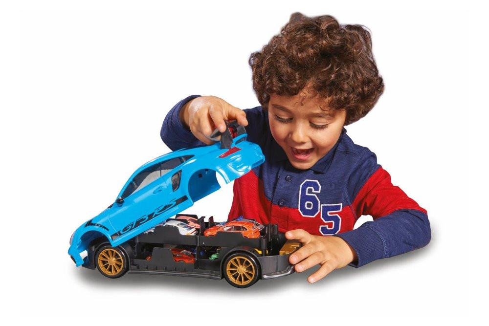 Porsche 911 GT3 RS Carry Case + 1 car, Blue - Jada Toys 2120581941JA - Diecast Model Toy Car