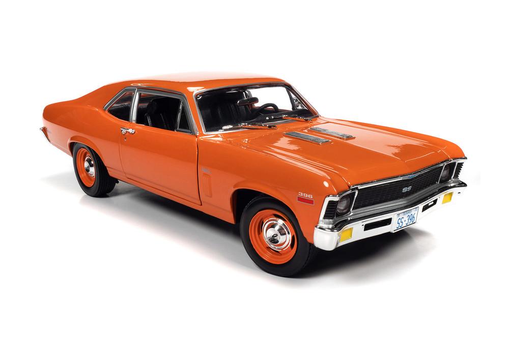 1970 Chevy Nova SS 396, Hugger Orange - Auto World AMM1226 - 1/18 scale Diecast Model Toy Car