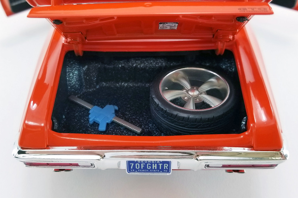 """1970 Pontiac GTO Street Fighter """"The Prosecutor"""" Hardtop, Carousel Red - Acme A1801214 - 1/18 scale Diecast Model Toy Car"""
