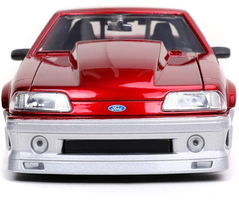 1989 Ford Mustang GT, Red - Jada Toys 32666/4 - 1/24 scale Diecast Model Toy Car