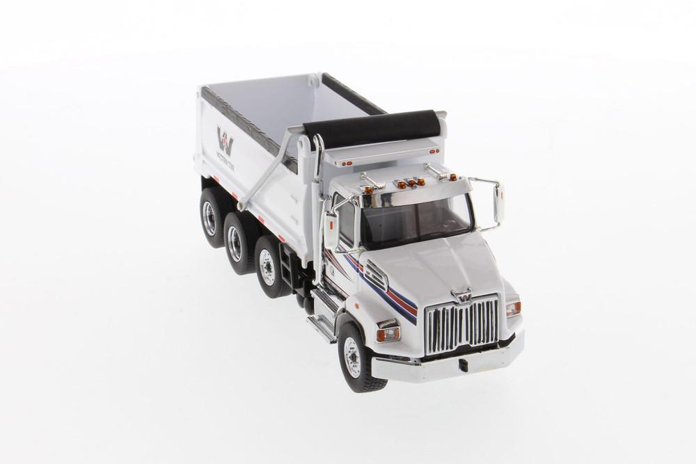Western Star 4700 SFFA Dump Truck, White - Diecast Masters 71034 - 1/50 scale Diecast Model Toy Car