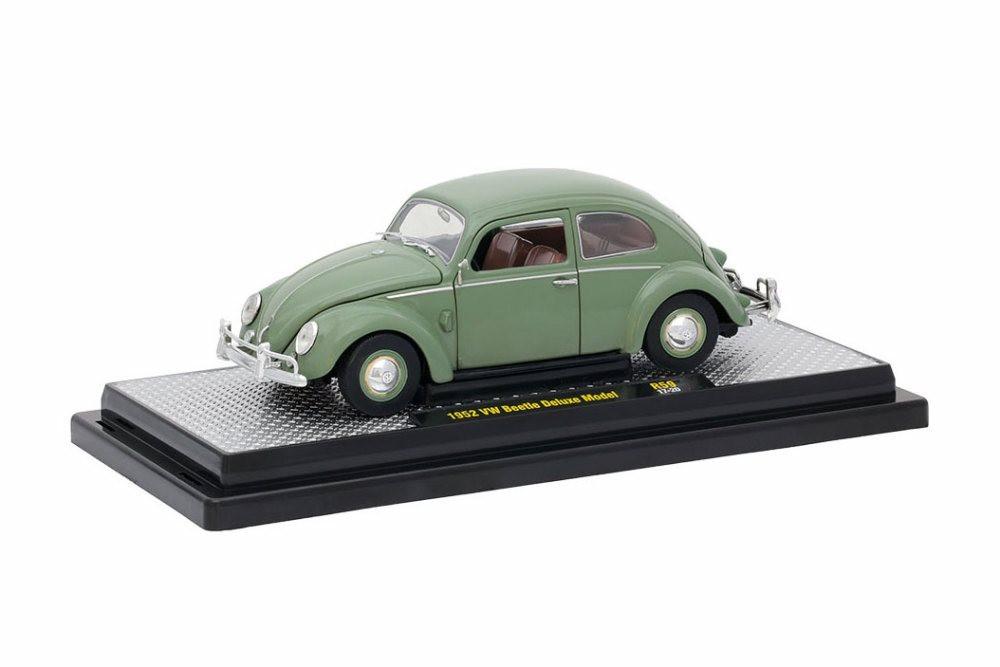 1952 Volkswagen Beetle Deluxe, Green - Castline M2 40300/59A - 1/24 Scale Diecast Model Toy Car