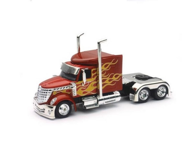Peterbilt Model 379, Red - New Ray SS-15241 - 1/43 scale Diecast Model Toy Car