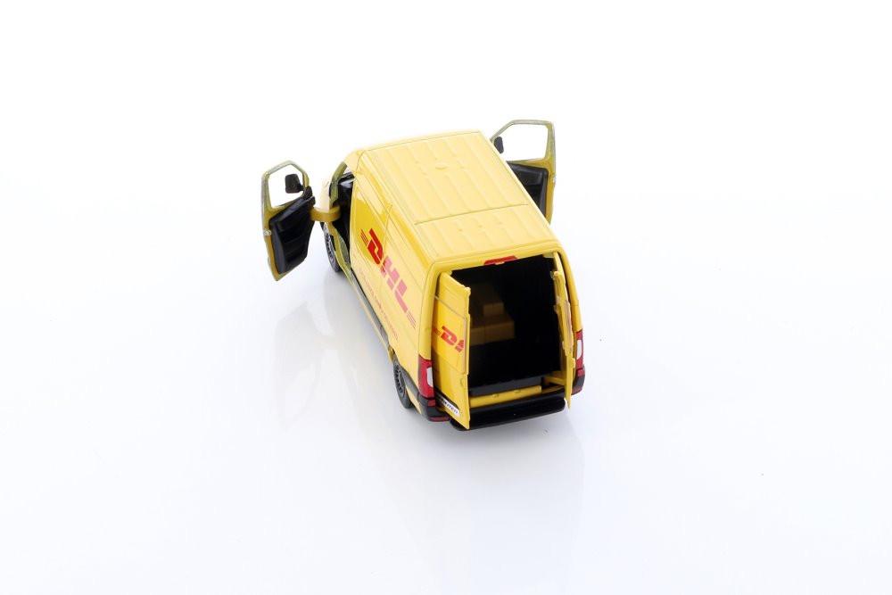 Mercedes-Benz Sprinter DHL Delivery Van, Yellow - Kinsmart 5429D - 1/48 scale Diecast Model Toy Car