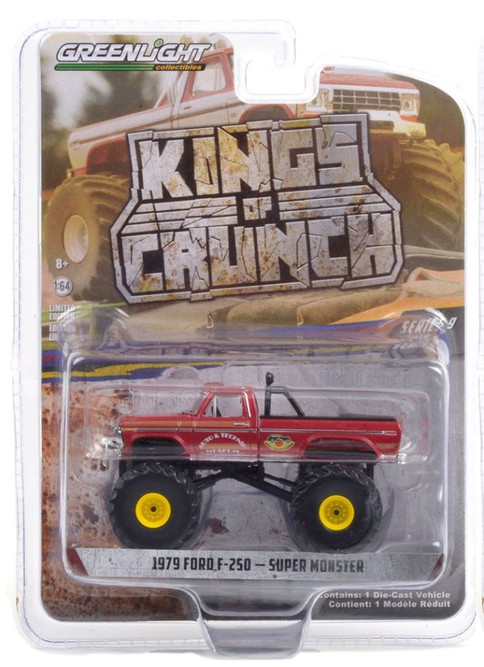 1979 Ford F-250 Monster Truck - Super Monster, Red - Greenlight 49090D/48 - 1/64 scale Diecast Model Toy Car