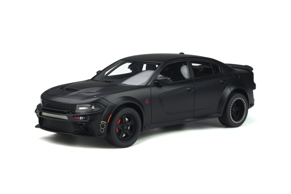 2020 Dodge Charger SRT Hellcat Widebody Tuned by Speedkore, Matte Black - GT Spirit GT301 - 1/18 scale Resin Model Toy Car