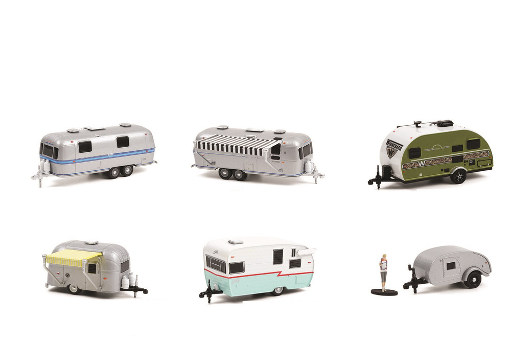Greenlight Hitched Homes Series 10 Diecast Car Set - Box of 6 assorted 1/64 Scale Diecast Model Cars