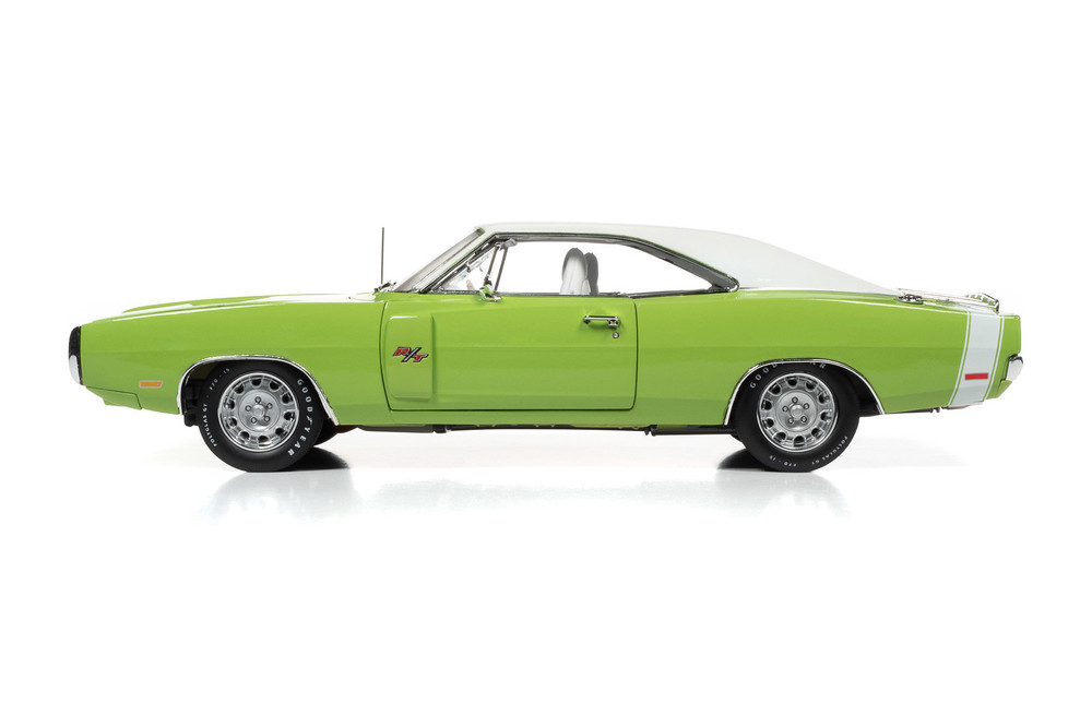 1970 Dodge Charger, FJ5 Sublime Green - Auto World AMM1249 - 1/18 scale Diecast Model Toy Car