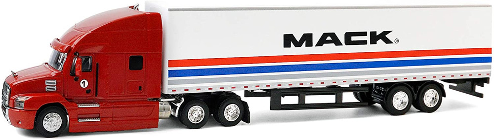2018 Mack Anthem 18 Wheeler Tractor Trailor, Red - Greenlight 30193/24 - 1/64 scale Diecast Model Toy Car
