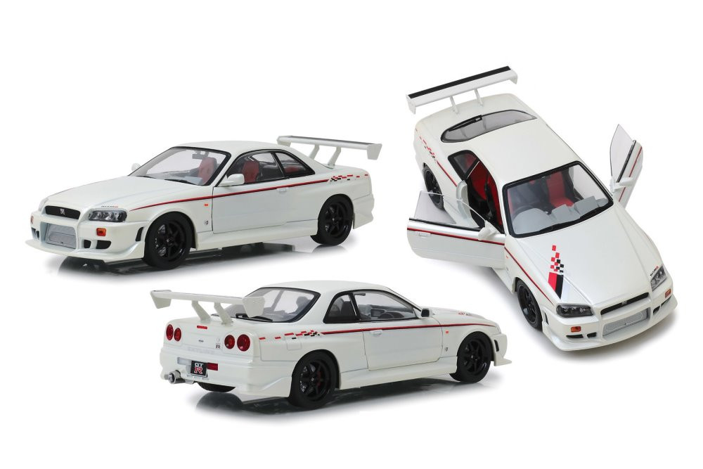 1999 Nissan Skyline GT-R R34, Pearl White - Greenlight 19049 - 1/18 scale Diecast Model Toy Car