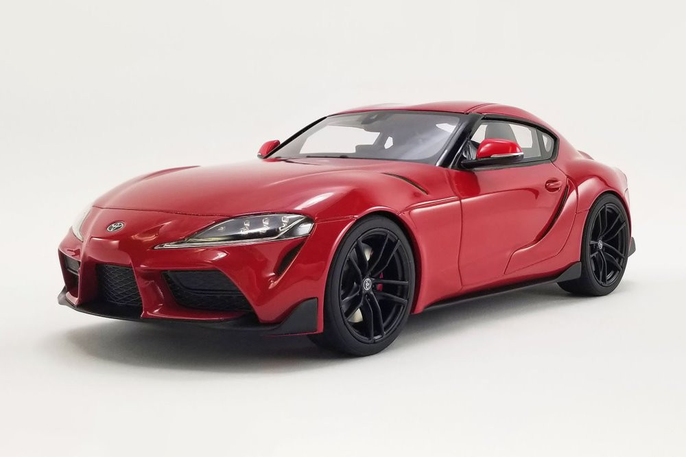 2021 Toyota Supra GR 3.0, Renaissance Red - GT Spirit US038 - 1/18 scale Resin Model Toy Car