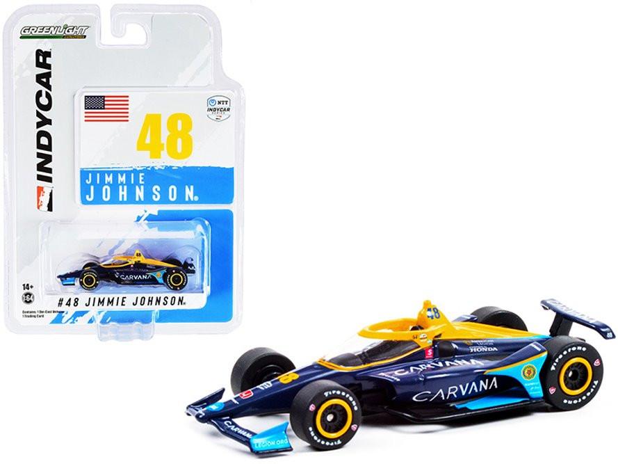 2021 Dallara IndyCar, #48 Jimmie Johnson - Greenlight 11501/48 - 1/64 scale Diecast Model Toy Car
