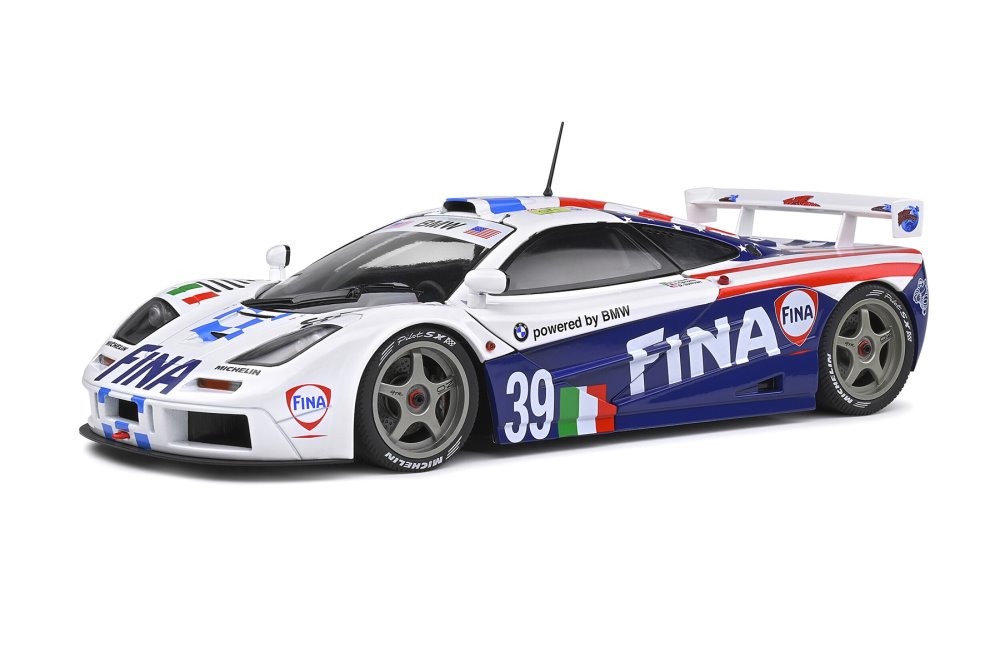 1996 McLaren F1 GTR Short Tail Le Mans 24 Hour, #39 Piquet/Cecotto/Sullivan - Solido S1804103 - 1/18 scale Diecast Model Toy Car